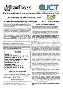 Ullapool Newsletter 8 May 2020